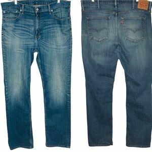 Mens Levis 559 40 x 36 Straight Leg Med Wash Jeans